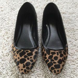 Banana Republic Calf Hair Leopard Flats